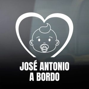 """Pegatina de Vinilo  """"Bebé a bordo – Bebé Molón"""""""
