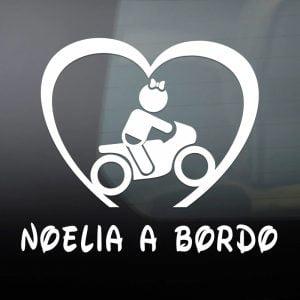 """Pegatina de Vinilo  """"Bebé a bordo – Motera"""""""