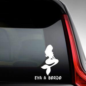 Pegatina de Vinilo  «Bebé a bordo – Sirena»