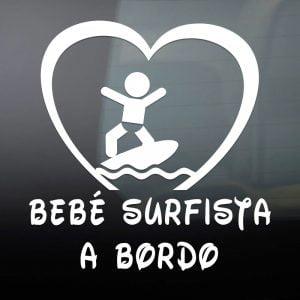 "Pegatina de Vinilo  ""Bebé a bordo – Surfista"""