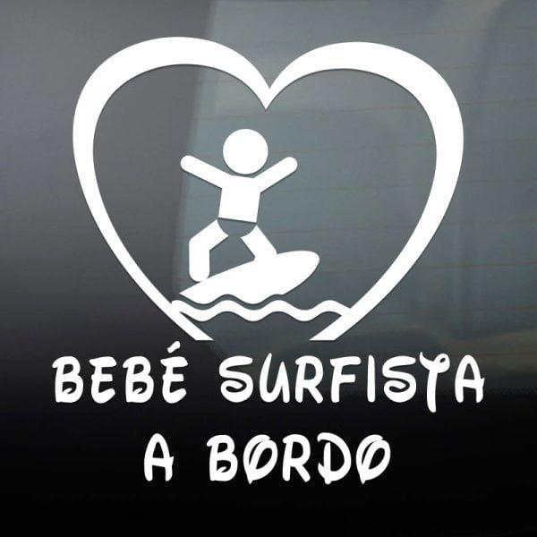Pegatina Bebé a Bordo - Surfista