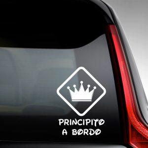 Pegatina de Vinilo  «Bebé a bordo – Corona de Principe #2»