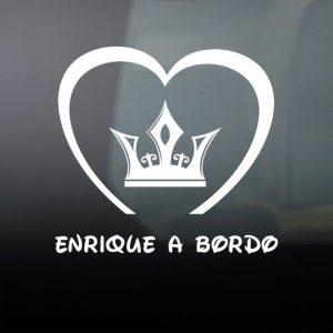 Pegatina de Vinilo  «Bebé a bordo – Corona de Principe #3»