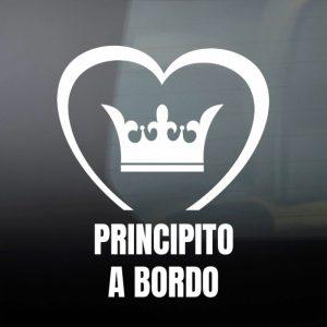 Pegatina de Vinilo  «Bebé a bordo – Corona de Principe»