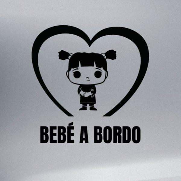 """Pegatina Bebé a Bordo """"Funko Pop Boo"""" en negro"""