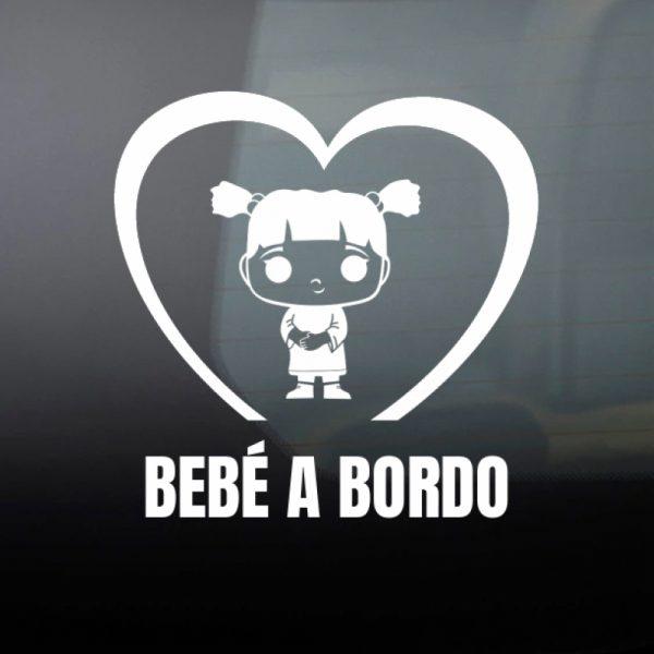 """Pegatina Bebé a Bordo """"Funko Pop Boo"""" en blanco"""