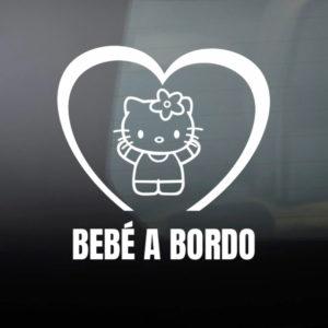 Pegatina de Vinilo  «Bebé a bordo – Hello Baby»