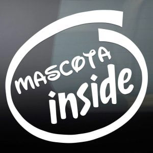 """Pegatina de Vinilo  """"Mascota Inside"""""""