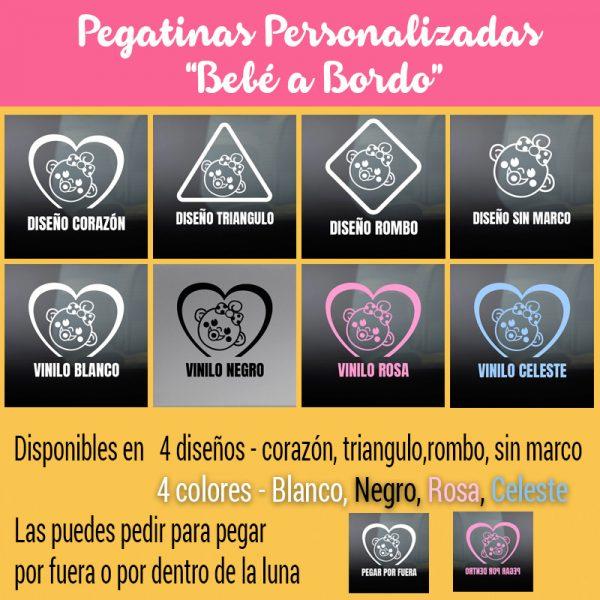 Pegatinas Bebé a Bordo - variedad de diseños y colores