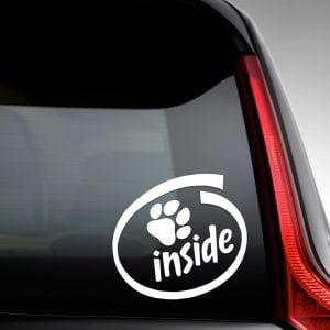 Pegatina de Vinilo  «Huella de Mascota Inside»