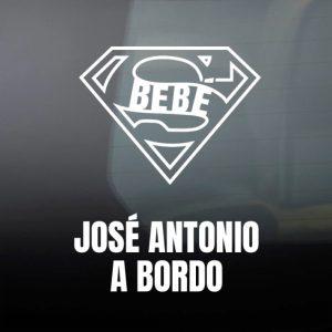 """Pegatina de Vinilo  """"Super Bebé"""""""