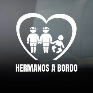 Pegatina de Vinilo  «Bebé a bordo – Tres hermanos»