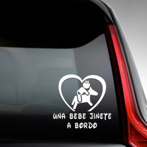 "Pegatina de Vinilo  ""Bebé a bordo – Chica Jinete"