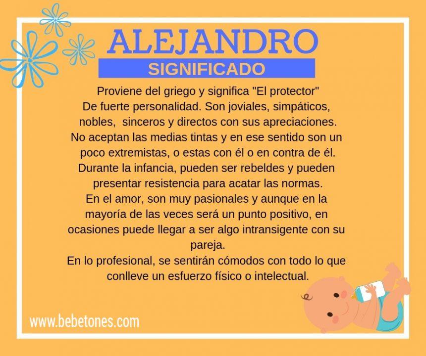 Nombre Alejandro Origen y Significado