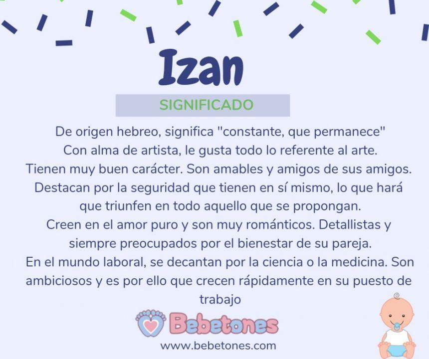 Nombre Izan Origen y Significado