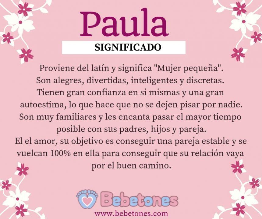 Nombre Paula Origen y Significado
