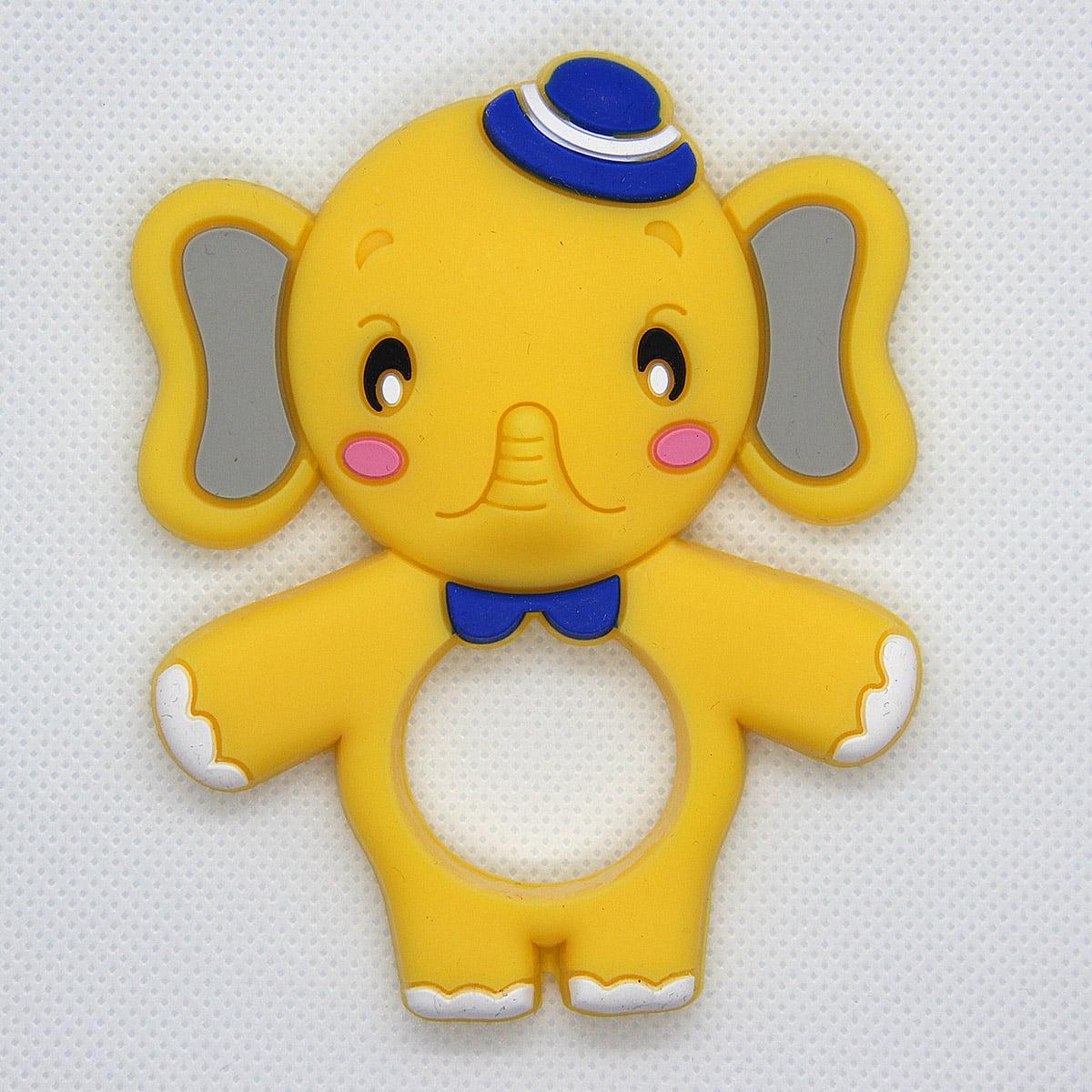 Mordedor de silicona Elefante amarillo