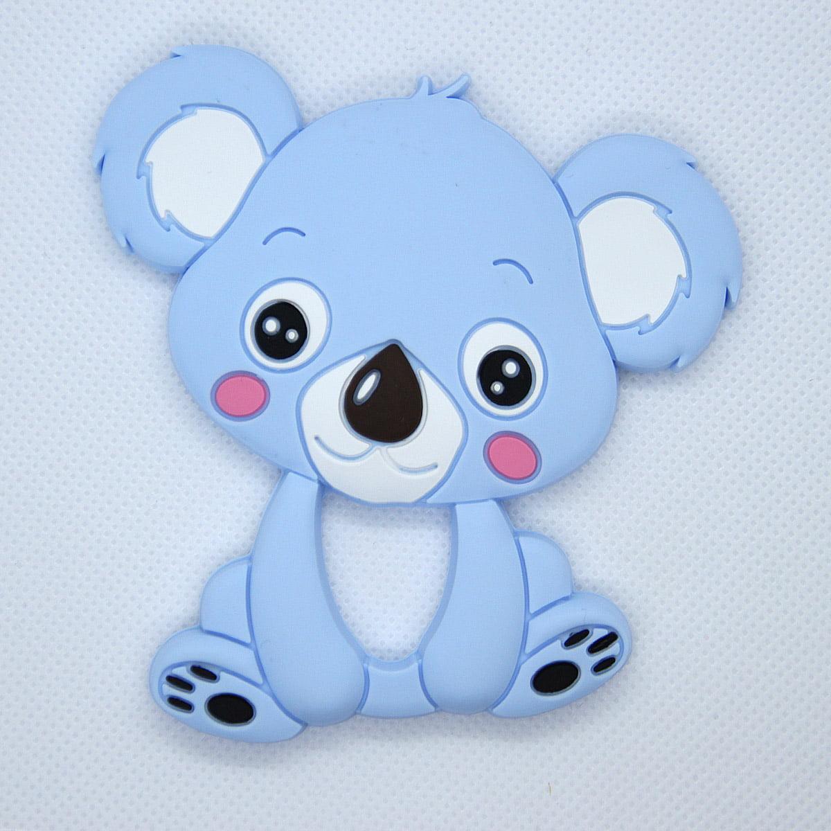Mordedor de silicona Koala color azul