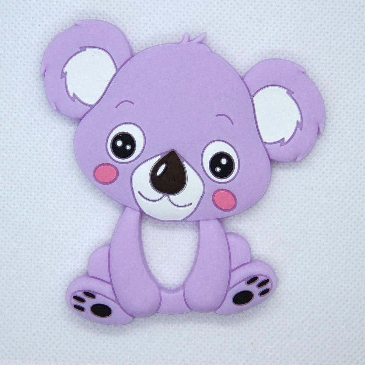 Mordedor de silicona Koala color morado