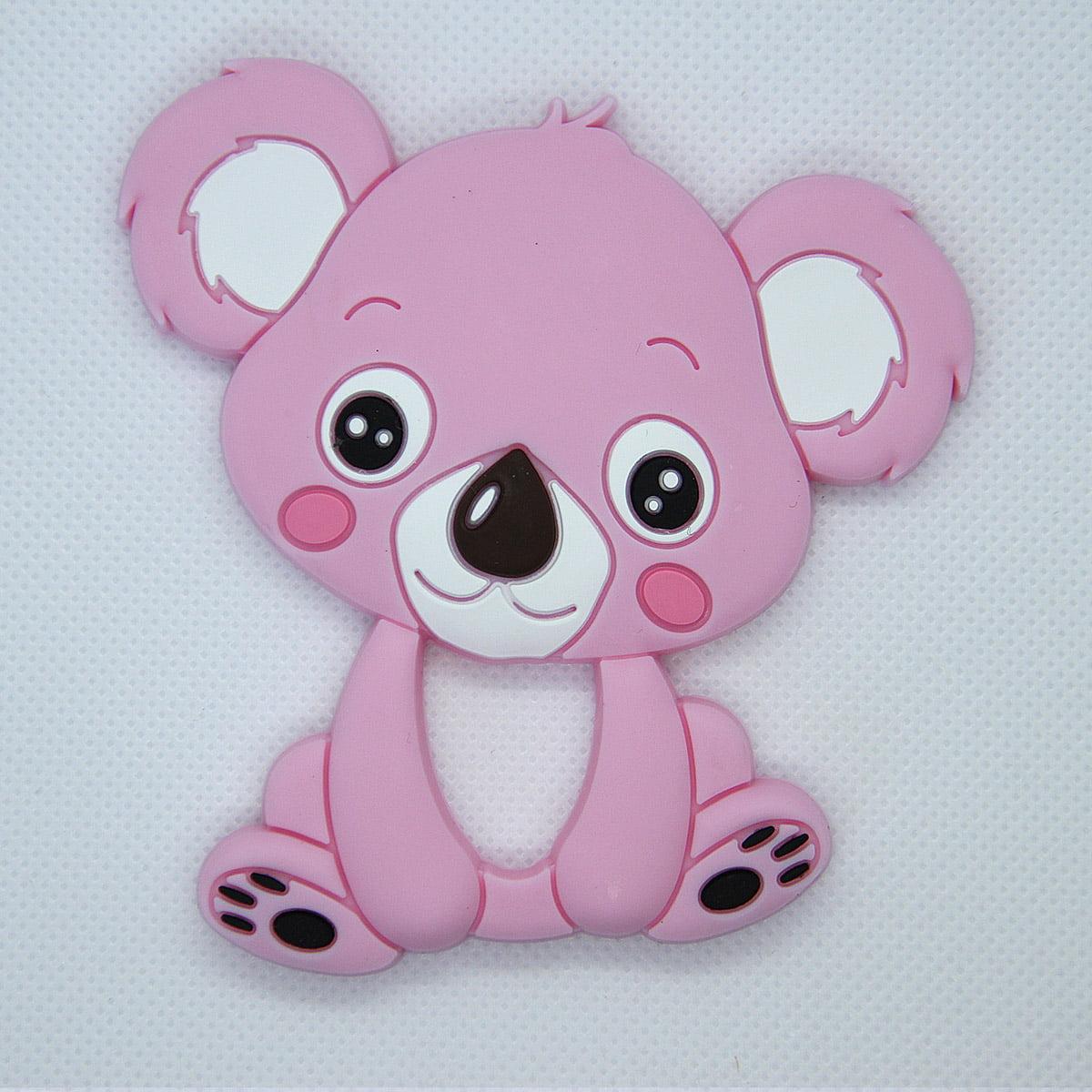 Mordedor de silicona Koala color rosa