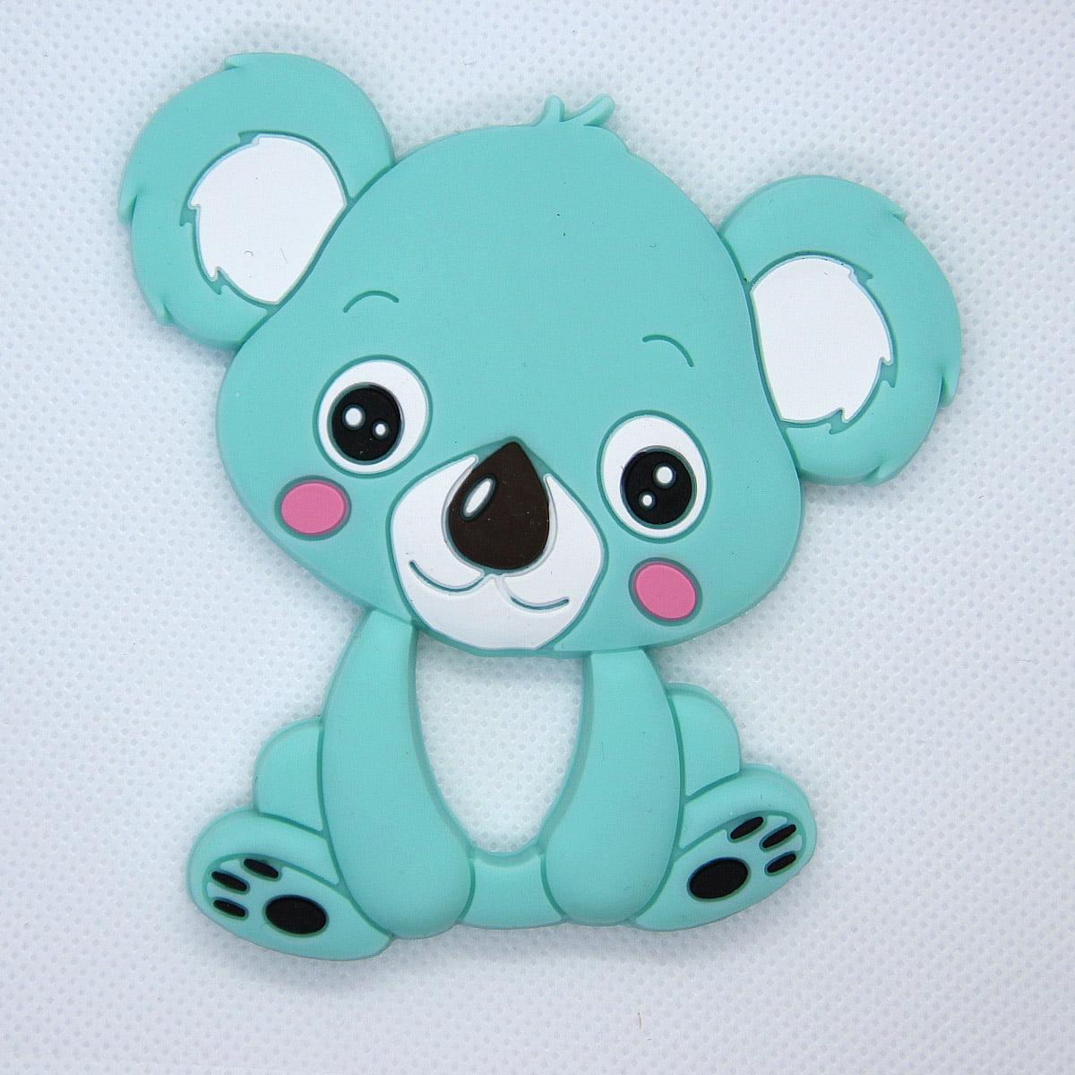 Mordedor de silicona Koala color verde