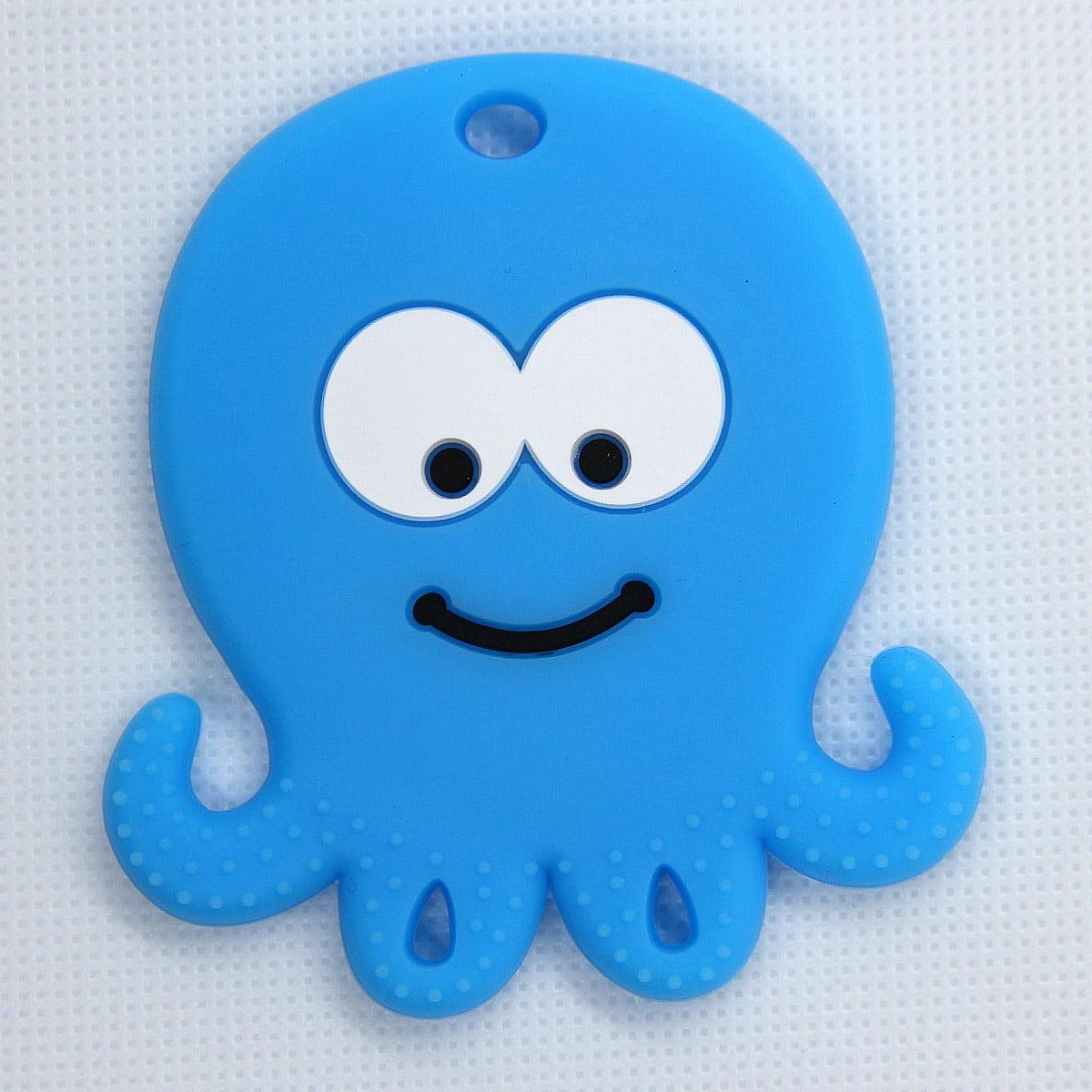 Mordedor silicona Pulpo color azul