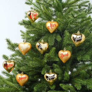 Corazon De Navidad Personalizado