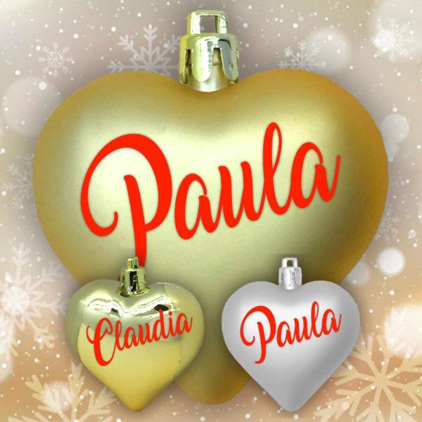 Adorno de navidad corazón