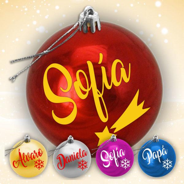 Bola de Arbol de Navidad Personalizada