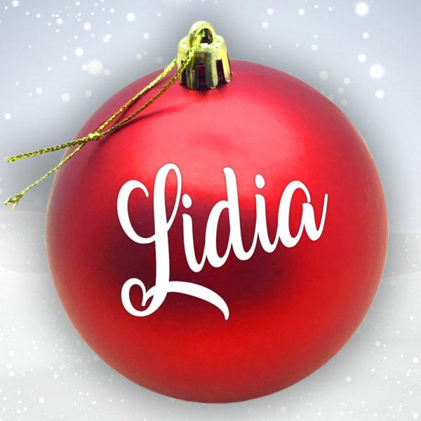 Bola Arbol Navidad Personalizada - Rojo Mate