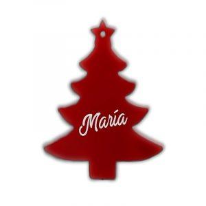 Arbol de navidad rojo de metacrilato 7.5x8cm