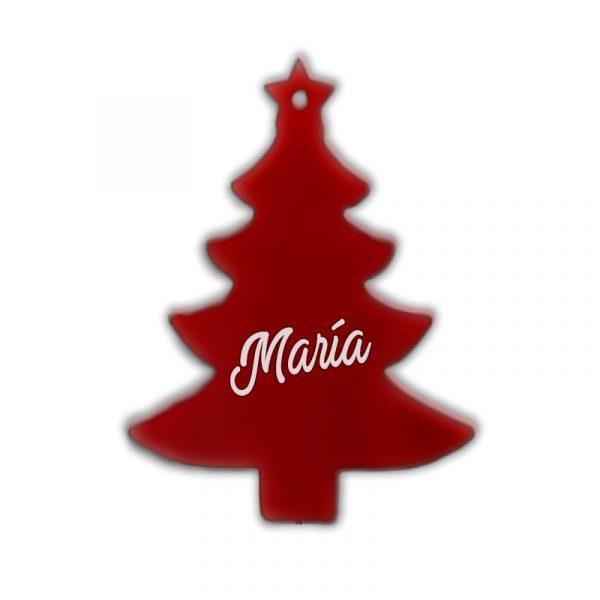 Árbol de navidad de metacrilato rojo