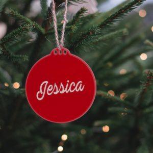 Bola para árbol de navidad de metacrilato 7.5x8cm