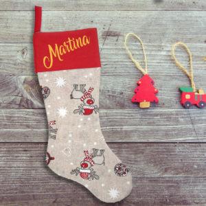 Calcetín de Navidad Personalizado – El Reno Mágico