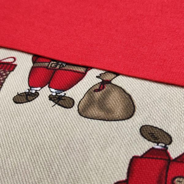 Calcetin personalizado La mágia de la navidad de cerca