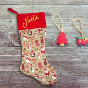 Calcetín de Navidad Personalizado – Merry Christmas