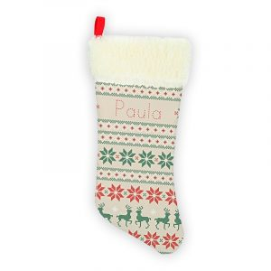 Calcetín de Navidad Personalizado – Mosaico Navideño