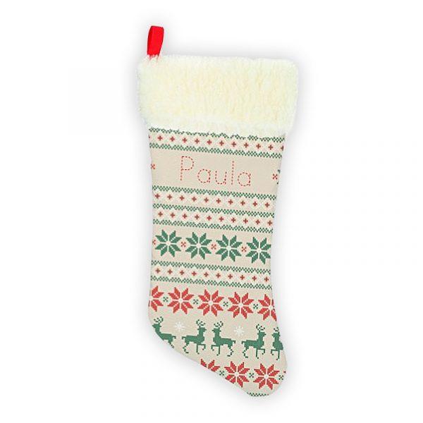 Calcetín personalizado navidad Mosaico Navideño