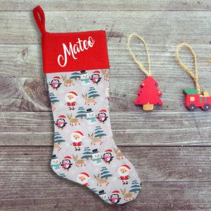 Calcetín de Navidad Personalizado – Polo Norte