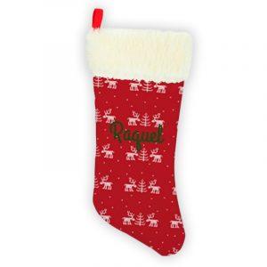 Calcetín de Navidad Personalizado – Renos