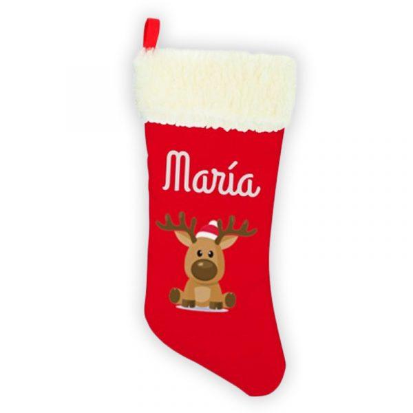 Calcetín de Navidad Rodolfo - personalizado con nombre