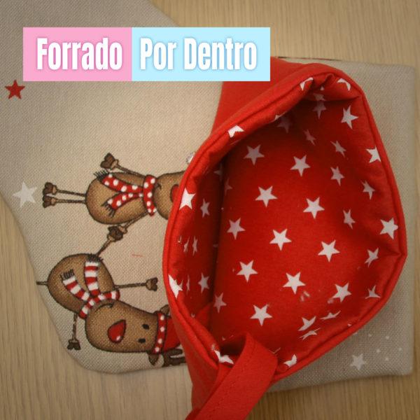 Calcetín de Navidad Rodolfo - personalizado con nombre y forrado por dentro