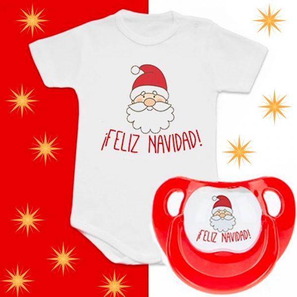 Pack Body + Chupete Feliz Navidad con Papá Noel