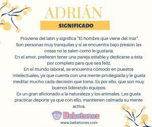 Nombre Adrián Origen y Significado