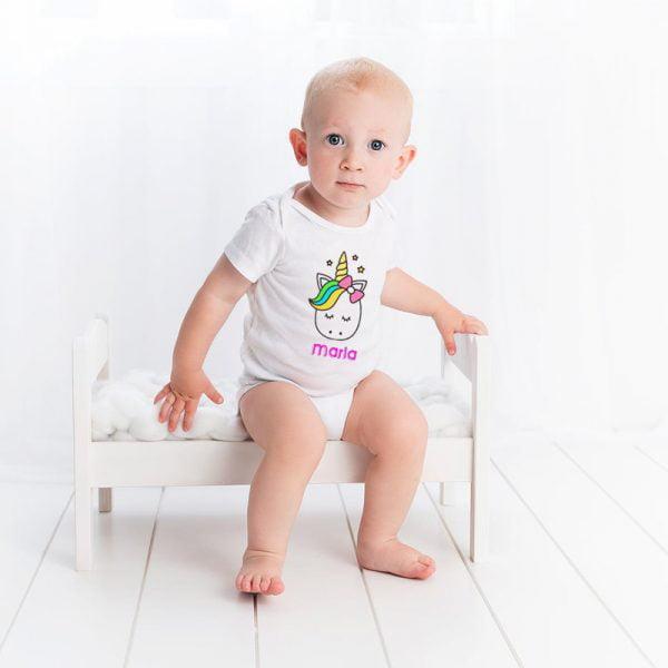 Pack de Body y Chupete Unicornio con Bebé