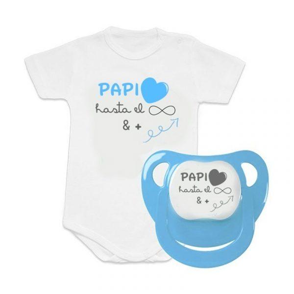 Pack de Body y Chupete Papi - Amor Infinito