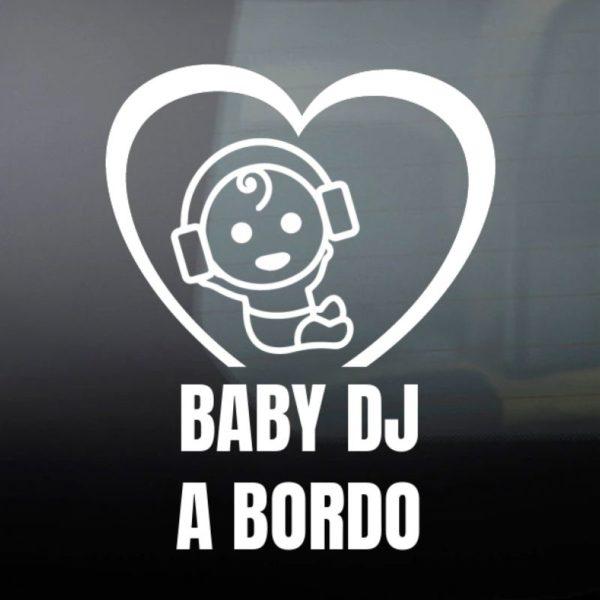 """Pegatina personalizada """"Bebé DJ"""""""