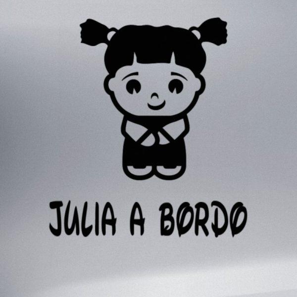 """Pegatina personalizada """"Chica sin miedo"""" en negro"""
