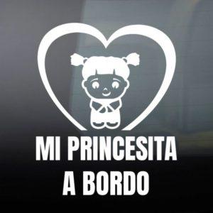 """Pegatina de Vinilo Bebé a Bordo – """"Chica sin miedo"""""""