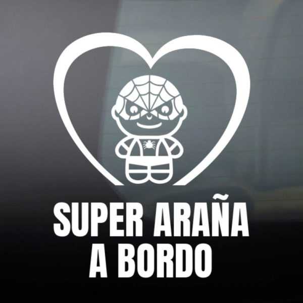 "Pegatina personalizada ""Bebé a Bordo - Super Bicho"""
